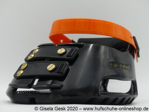 """Testschuh Scoot Boot - """"Fesselriemen-Orange"""""""
