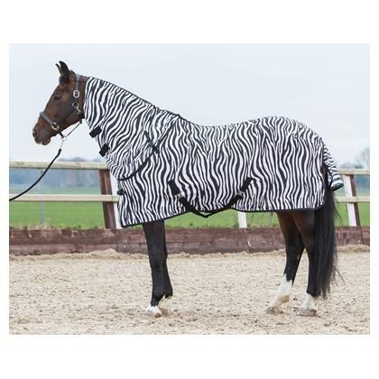 Fliegendecke mit seperatem Halsteil Zebra