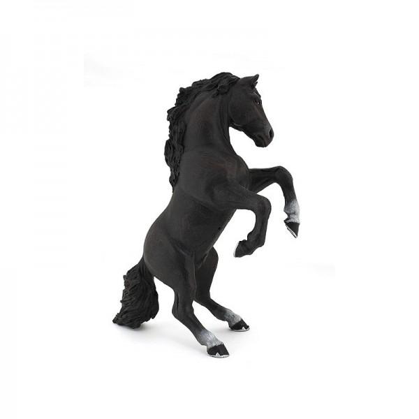 PAPO Schwarzes steigendes Pferd Miniatur