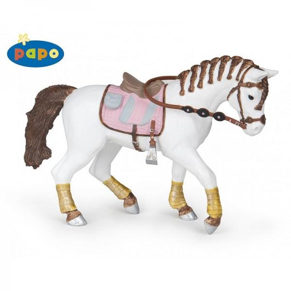 PAPO Pferd mit geflochtenen Zöpfen Miniatur