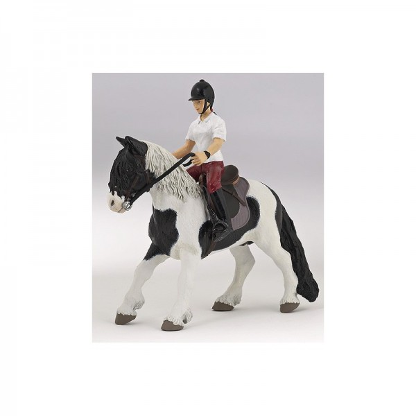 PAPO Reitendes Mädchen Miniatur - Lieferung ohne Pony
