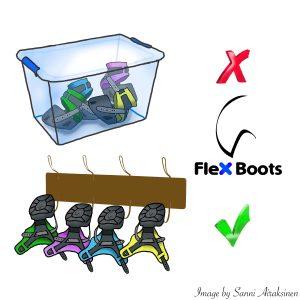 Flex Boots Reinigung