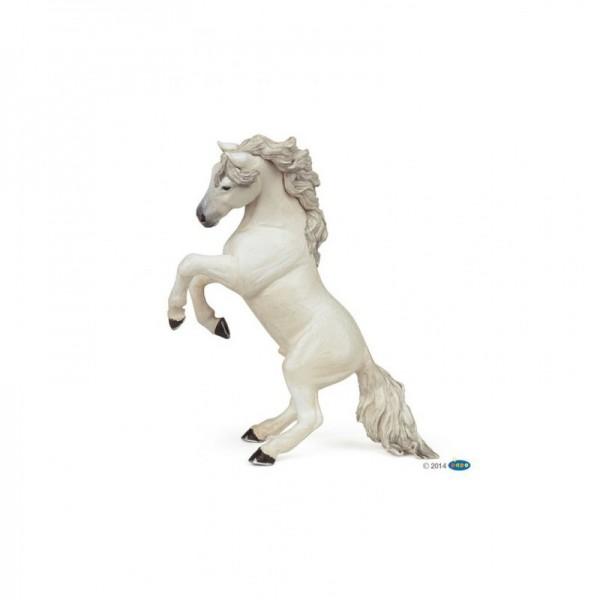 PAPO weißes steigendes Pferd Miniatur