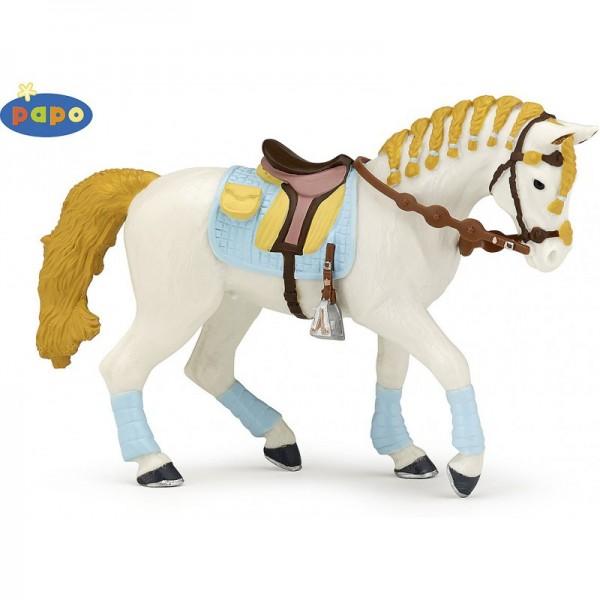 PAPO Pferd der blauben Fashion Reiterin Miniatur
