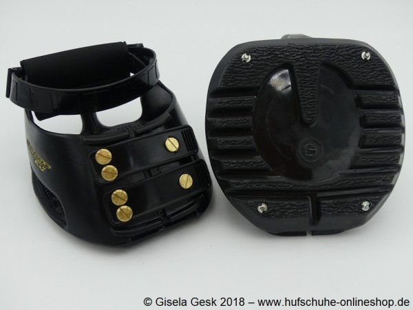 Scoot Boot - Schwarz - mit Spikes / Quick Studs