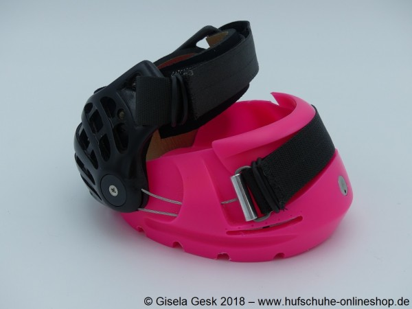 Renegade Hoof Boot - Pink/Black Knight